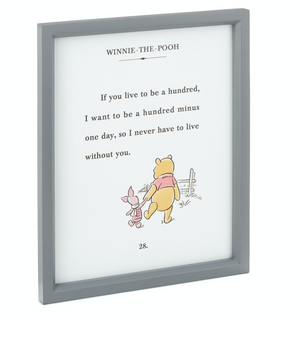 Hallmark Disney Winnie the Pooh and Piglet Friendship Framed Art Quote Sign New