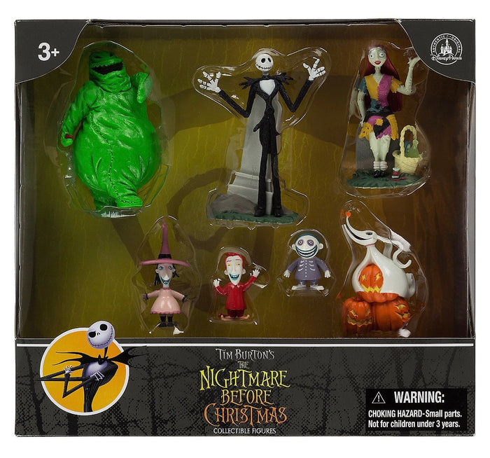 Disney Parks Nightmare Before Christmas Figure Cake Topper Playset NEW EDITION New with Box