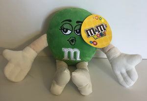 M&M's Green Character Core Plush Small New with Tags