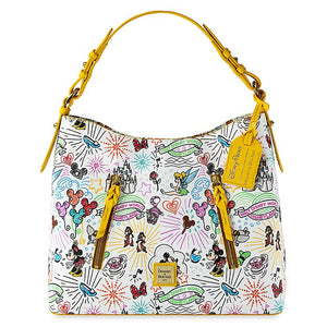 Disney Parks Sketch Hobo Bag by Dooney & Bourke 10th Anniversary New