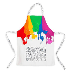 Disney Parks Ink & Paint Cotton Youth One Size Apron New with Tags