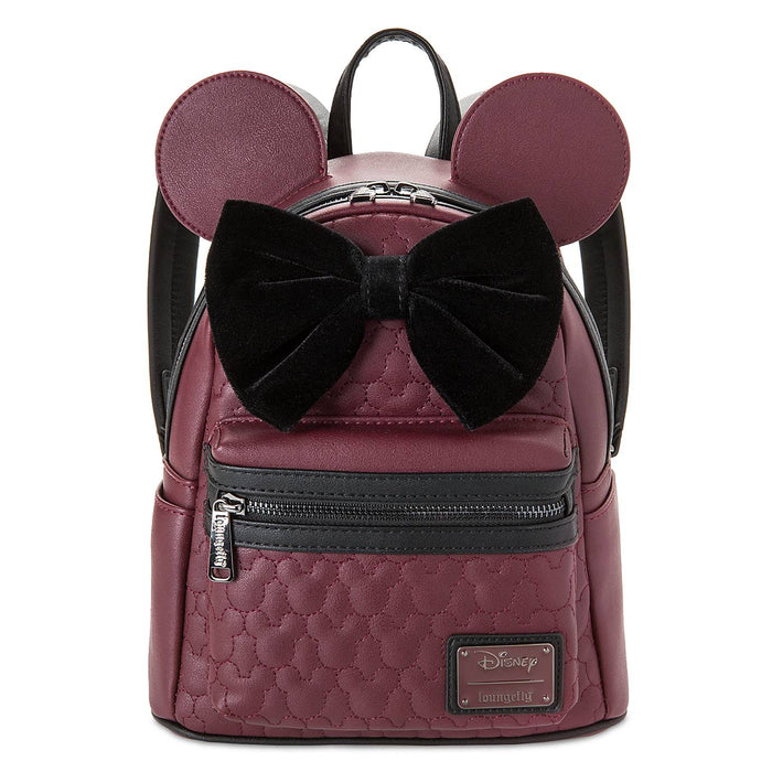Disney Parks Minnie Mouse Quilted Mini Backpack New with Tag
