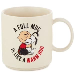Hallmark Peanuts Warm Hug Charlie Brown and Snoopy Mug New