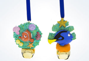 Disney Parks Dory And Nemo Christmas Jingle Bells Ornament New With Tags