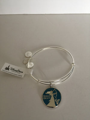 Disney Alex and Ani Merida Be Forever Brave Bangle Silver Finish New Tags