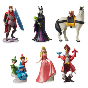 Disney Sleeping Beauty Aurora Maleficent 6 pcs Figurine Playset Cake Topper New