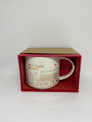 Starbucks You Are Here Holiday Pike Place Market Seattle Coffee Mug New With Box