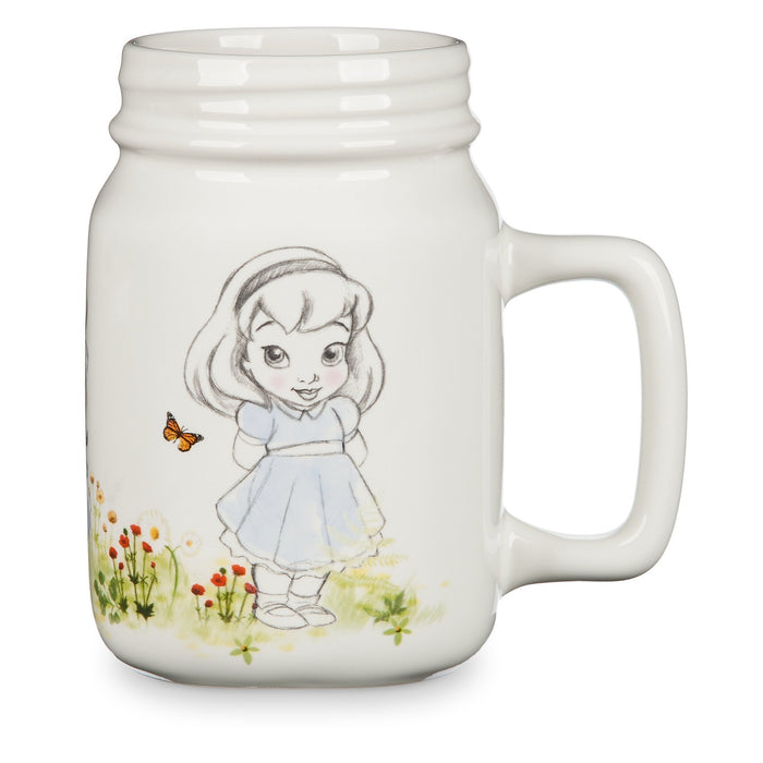 Disney Animators' Collection Mason Jar Ceramic Mug Jasmine Cinderella Belle New