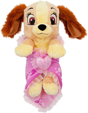 Disney Parks Baby Lady from Lady and the Tramp in Blanket Plush New with Tag