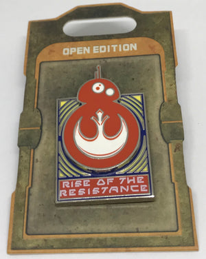 Disney Parks Star Wars Galaxy Edge BB8 Rise of the Resistance Pin New with Card