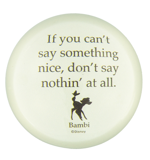 Disney Parks Bambi Paperweight If you Can't Say Something Nice Don't say Nothing