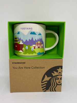 Starbucks You Are Here Collection Yueyang China Ceramic Coffee Mug New With Box