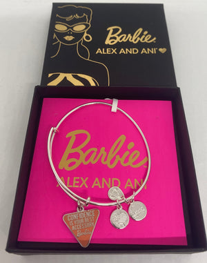 Alex Ani Barbie Confidence is Your Best Accessory Charm Silver Finish New w Box