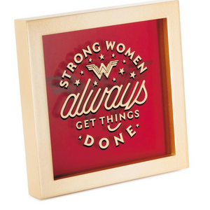 Hallmark DC Comics Wonder Woman Strong Women Framed Quote Sign New