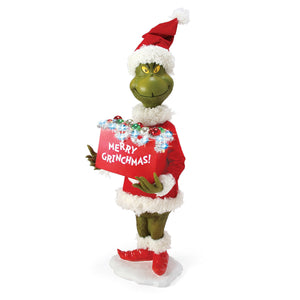 Jim Shore Grinch Statue Merry Grinchmas Figurine New with Box