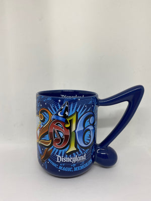 Disney Parks Disneyland Music Magic Memories 2016 Ceramic Coffee Mug New