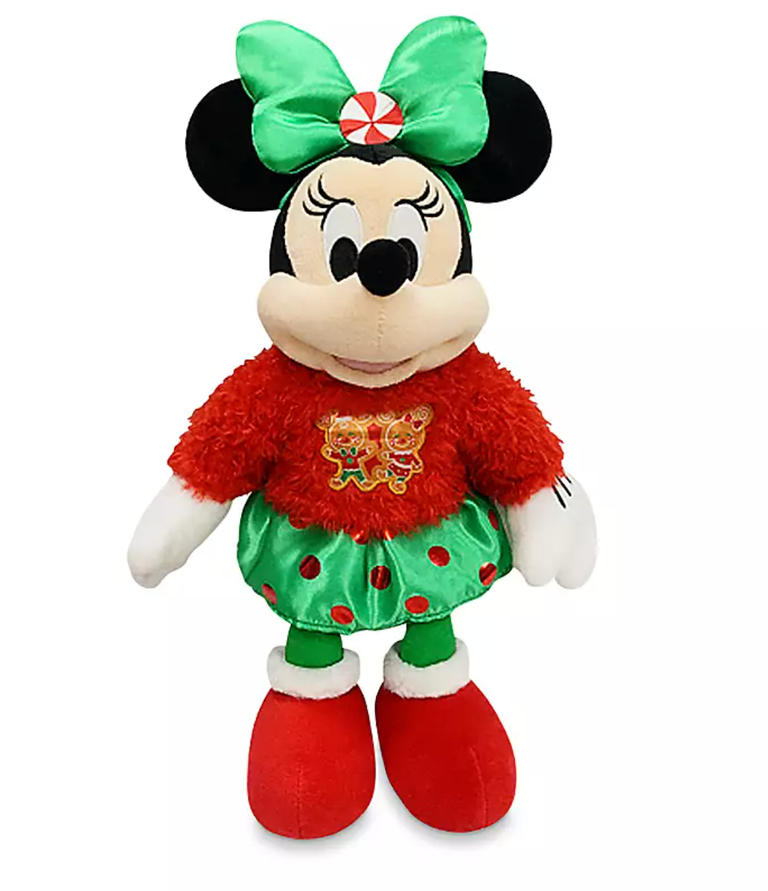 Disney Minnie Mouse Holiday Christmas Medium Plush Soft Toy brand new with tag