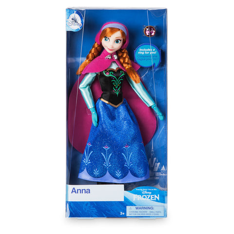 Disney Princess Frozen Anna Classic Doll with Ring New with Box