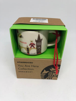 Starbucks Coffee You Are Here Prague Ceramic Ornament Espresso Mug New Box