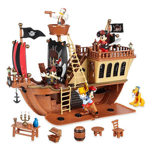 Disney Parks Mickey and Friends Pirate Ship Deluxe Play Set New with Box