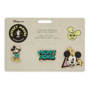 Disney Store Mickey Memories September Pin Set Limited Release New with Card