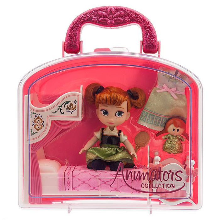Disney Animators' Collection Frozen Anna with Bed Mini Doll Play Set New w Tag