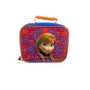 disney frozen anna insulated rectangular lunck box blue and pink new with tag