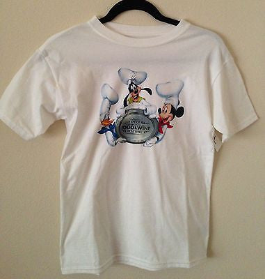 disney 2013 epcot wine & dine festival mickey & friends tee shirt size s nwt - I Love Characters