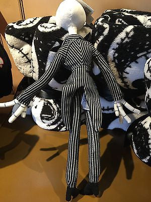 "disney parks jack skellington pumpkin king 9"" poseable plush new with tag"