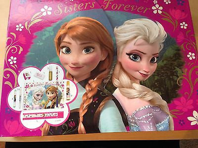 disney store frozen anna and elsa sisters forever pencils set box new