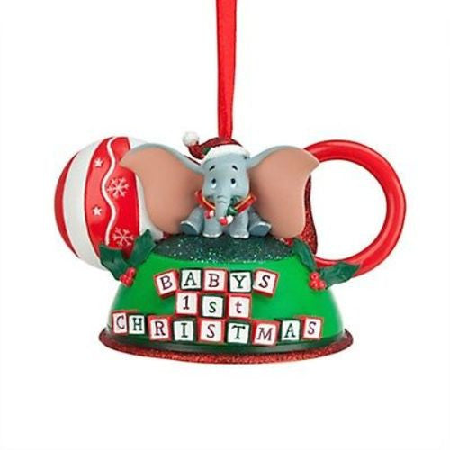 disney parks dumbo flying elephant first christmas ear hat ornament new with tag