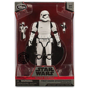 "Disney First Order Stormtrooper Elite Die Cast Action 7 1/2"" Star Wars Force"