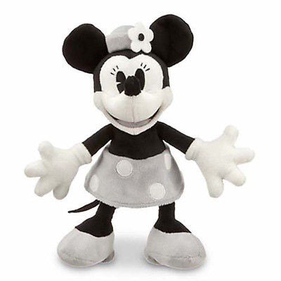 "disney parks 7"" minnie mouse black and gray plush new with tag"