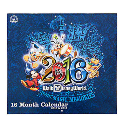 Disney Parks 2016 Walt Disney World 16 Month Calendar new sealed
