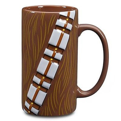 disney store ceramic star wars chewbacca tall mug 20 oz new with box