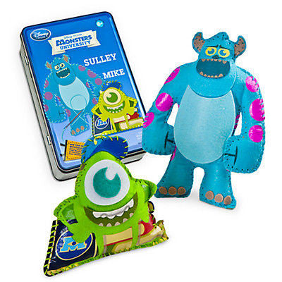 disney monsters university sew your own monster kit playset new with sealed tin