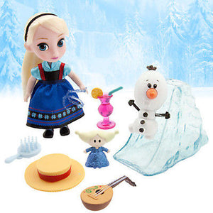Disney Frozen Elsa Animator's Collection 7 Pieces Mini Doll Set New