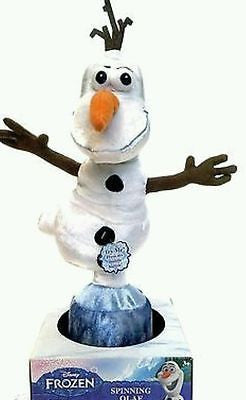 "disney frozen snowman olaf 9"" spinning talking plush just play new with box"