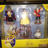disney parks beauty and the beast 6 pcs figure cake topper playset new with box
