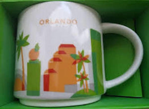 Starbucks You Are Here Orlando Ceramic Coffee Mug