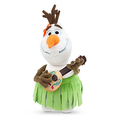 "disney store authentic frozen olaf aloha small 13"" plush new with tag"