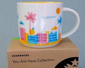 Starbucks You Are Here Florida Ceramic Coffee Mug