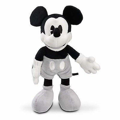 "disney parks 7"" mickey mouse black and grey plush toy new with tag"