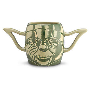 disney store ceramic star wars yoda tall mug 20 oz new with box