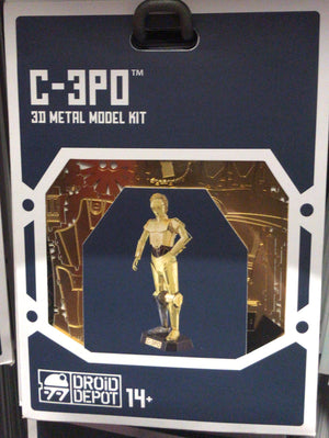 Disney Parks Star Wars C-3PO Droid Factory Metal Model Kit 3D Galaxy Edge New