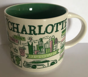 Starbucks Been There Series Collection Charlotte North Carolina Coffee Mug New