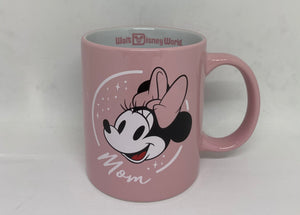 Disney Parks WDW Minnie Mom Pink Ceramic Coffee Mug New
