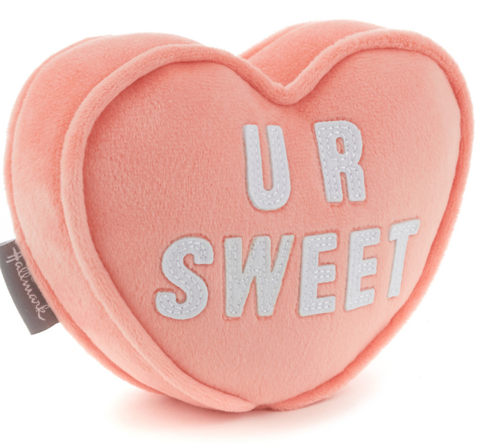 Hallmark Valentine U R Sweet Candy Heart Plush With Pocket New with Tag