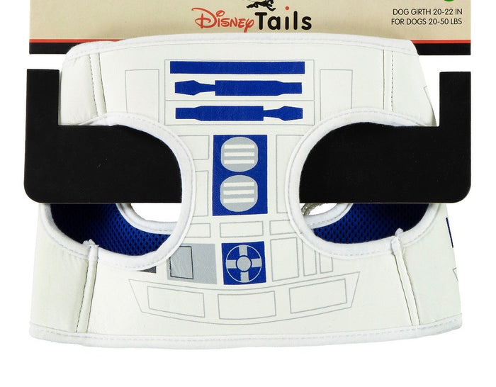 Disney Tails Dog Harness Star Wars R2D2 Size Medium New with Card