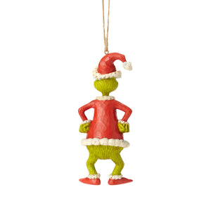 Jim Shore Grinch Dressed As Santa Christmas Ornament New with Box